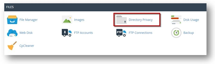cPanel directory privacy