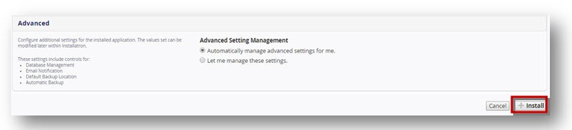 WordPress admin settings