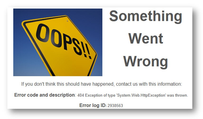 Custom Error Pages