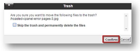 delete file confirmation