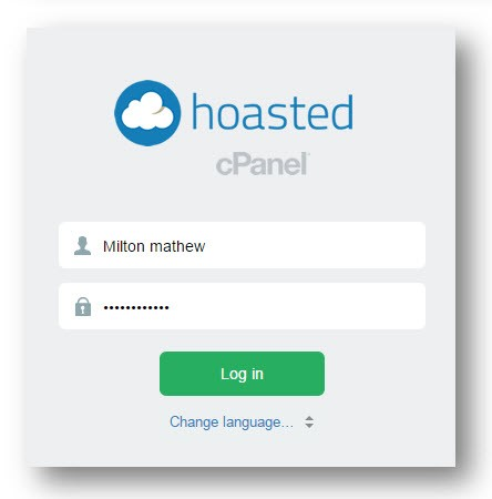 Cpanel Login page