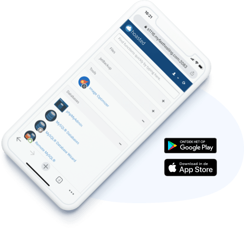 cPanel hosting app voor tablet en mobiel