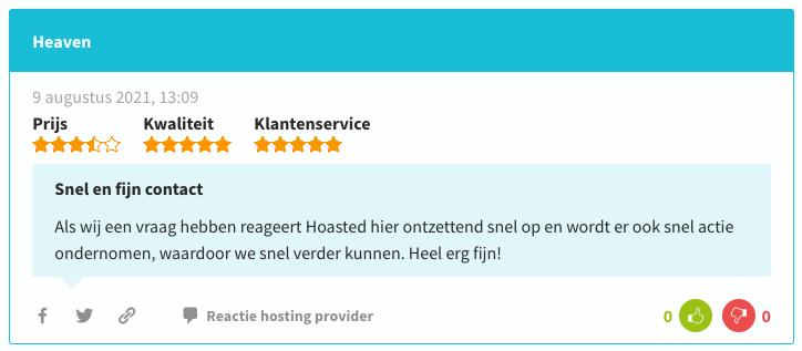 Hosting Nederland review